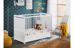 Tymek Plus Lova kūdikiui 60 x 120 su stalčiumi