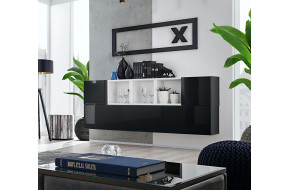 Blox SB V Komoda balta / juoda blizgi