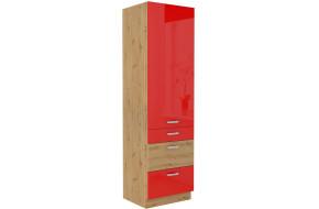 ARTISAN Raudona 60 DKS-210 3S 1F Ūkinė spinta