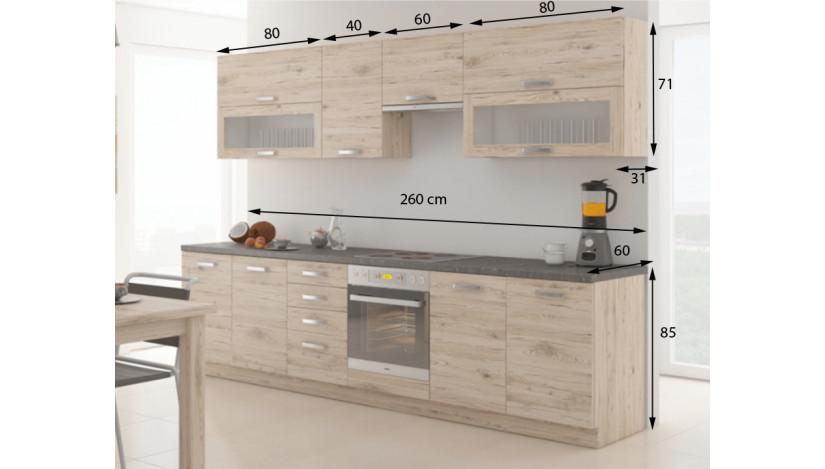 Bordeaux 260 cm Virtuvės baldų komplektas