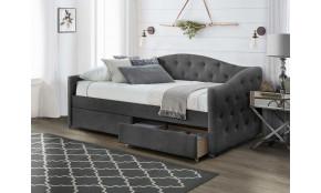ALOHA Miegamojo lova 90 x 200 cm pelenų velvetas
