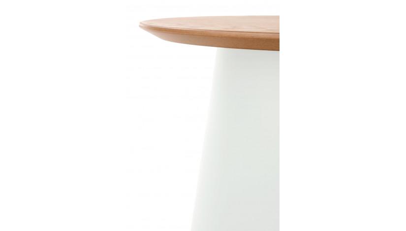 AZZURA-S staliukas apvalus Balta