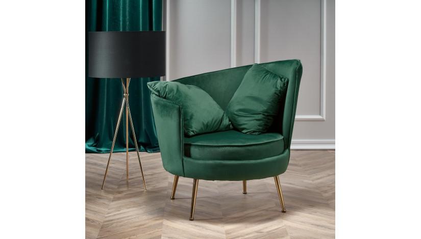 ALMOND fotelis Žalia tamsi