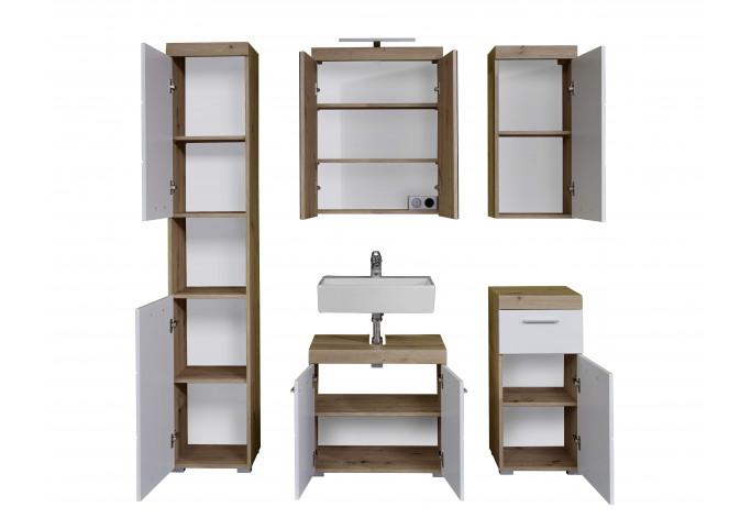 AMANDA Vonios baldų komplektas + LED