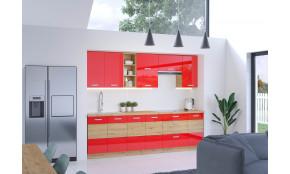 Artisan Raudona 260 Virtuvės baldų komplektas