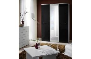 BIG Spinta su veidrodžiu balta / juoda blizgi