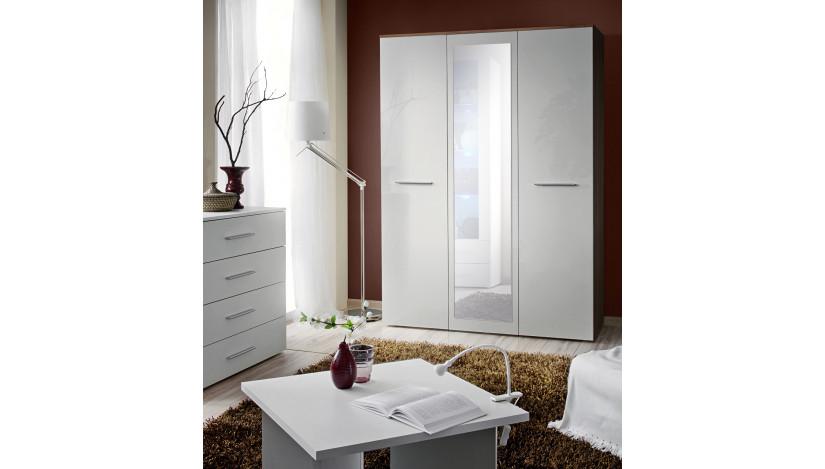 BIG Spinta su veidrodžiu balta / balta