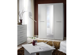 BIG Spinta su veidrodžiu balta matinė