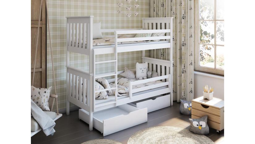 BRUNO Dviaukštė lova 90 x 200 cm
