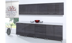 Virtuvės baldų komplektas COSTA RICA MDF 260 cm