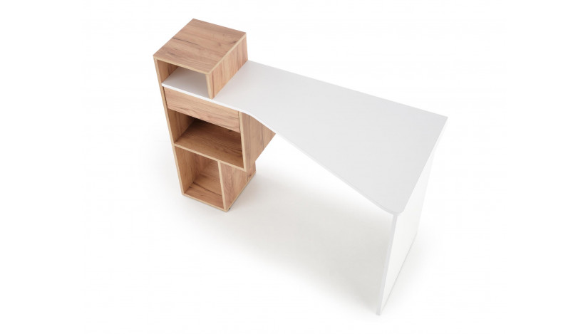 CONTI rašomasis stalas Aukso / balta