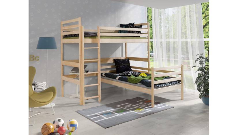DOUBLE Dviaukštė lova 70 x 160 cm