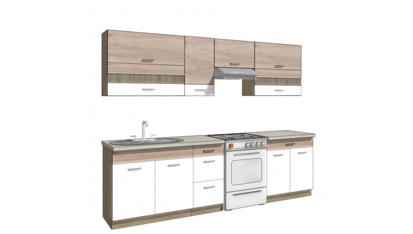 Econo B ( 270 cm ) Virtuvės baldų komplektas