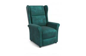 AGUSTIN 2 Fotelis su relax funkcija tamsiai žalia