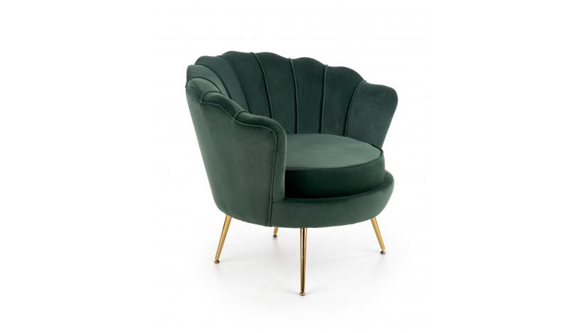 AMORINITO Fotelis tamsiai žalias