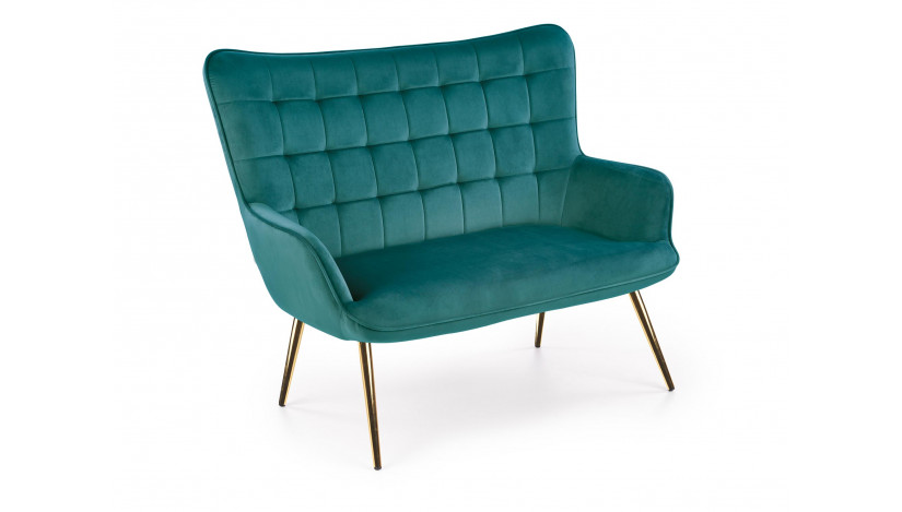 CASTEL 2 XL Fotelis tamsiai žalia / aukso