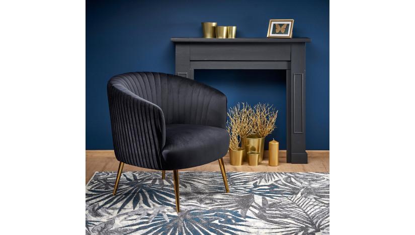 CROWN Fotelis juoda / auksinė