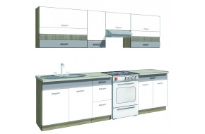Global B ( 270 cm ) Virtuvės baldų komplektas