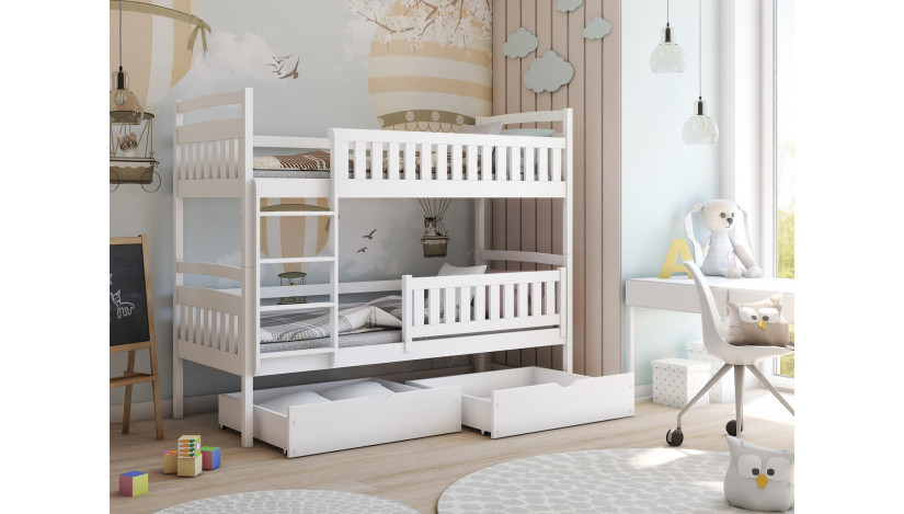 Ignas 90 x 200 cm Dviaukštė lova