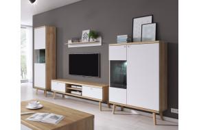 PRIMO 1 (PWT50 + PRTV160 + P107 + PWT90) Svetainės baldų Komplektas