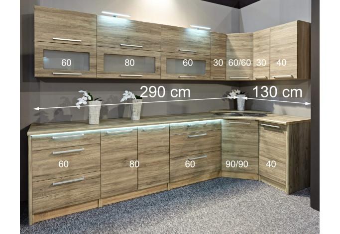 ROMINA MDF 290/130 Virtuvės baldų komplektas