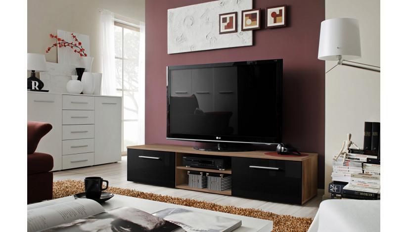 Bono II TV staliukas slyva matinė / juoda blizgi