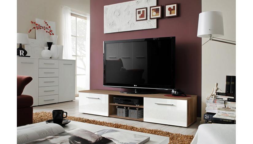 Bono II TV staliukas slyva matinė / balta blizgi