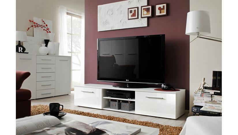 Bono II TV staliukas balta / balta blizgi