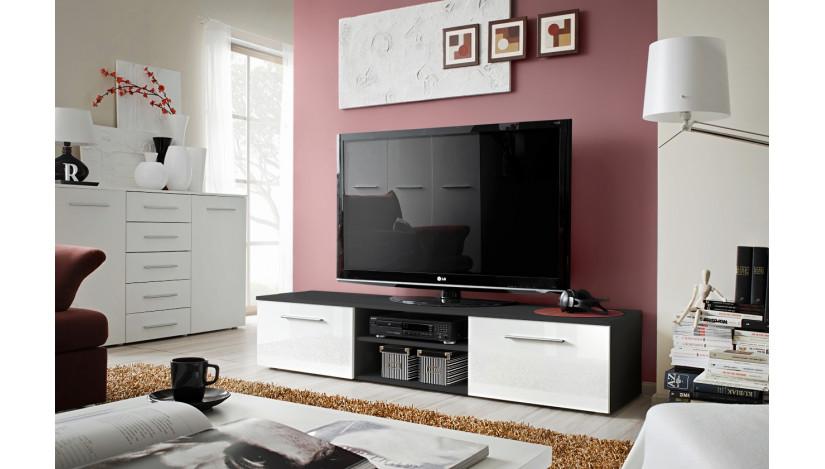 Bono II TV staliukas juoda / juoda blizgi 24 ZW B2