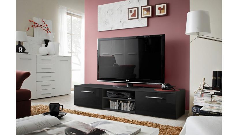 Bono II TV staliukas juoda / juoda blizgi 24 ZZ B2