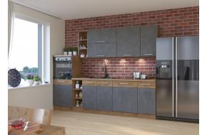 Vigo Grafit Mat 270A cm virtuvės baldų komplektas
