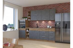 Vigo Grafit Mat 270 cm virtuvės baldų komplektas