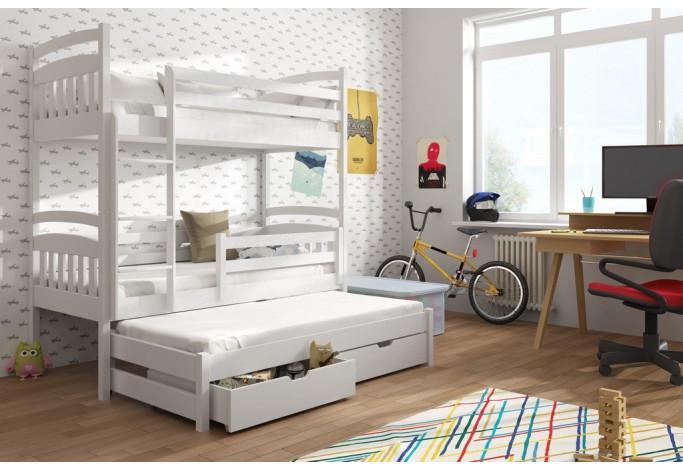 Alan 90 x 190 cm Trivietė lova