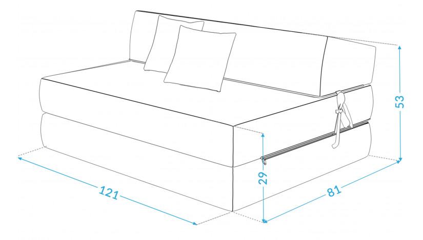 ALEX sofa čiužinys 121 cm raudona 22