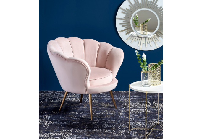 AMORINO Fotelis rožinis
