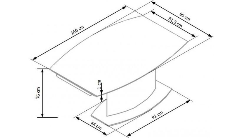 ANDERSON Stalas išskleidžiamas 160-250 cm