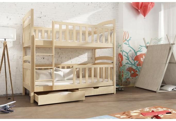 Antos 90 x 190 cm Dviaukštė lova