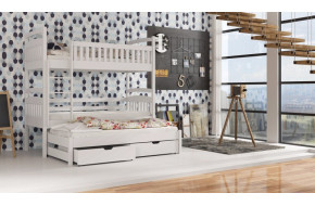 Arek 90 x 190 cm Trivietė lova