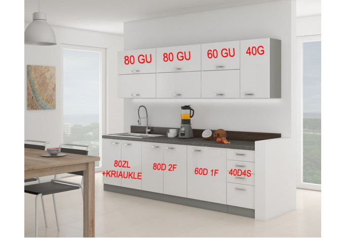 Bianka 260 Virtuvės baldų komplektas