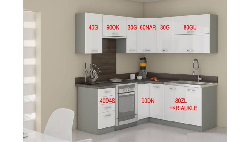 Bianka 190/170 Virtuvės baldų komplektas