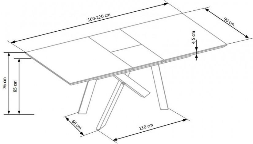 CAPITAL Stalas išskleidžiamas 160-200 cm