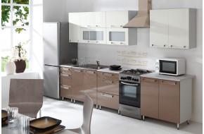 Virtuvės baldų komplektas CAPPUCINO 260 cm