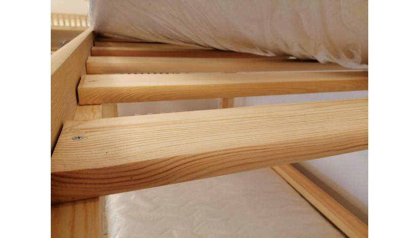 Cezar 90 x 200/190 cm Trivietė lova Balta Balta