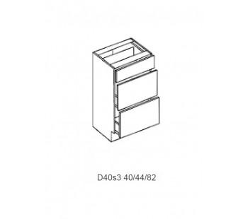 Spintelė ŠAMPANIA MDF D 40s4 (4 arba 3 stalčiai)