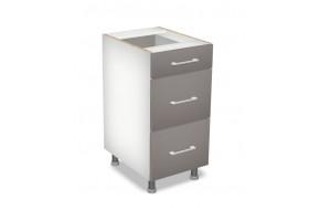 40 cm pastatoma spintelė 3S, Premium Line 3 stalčiai D 40 S/3