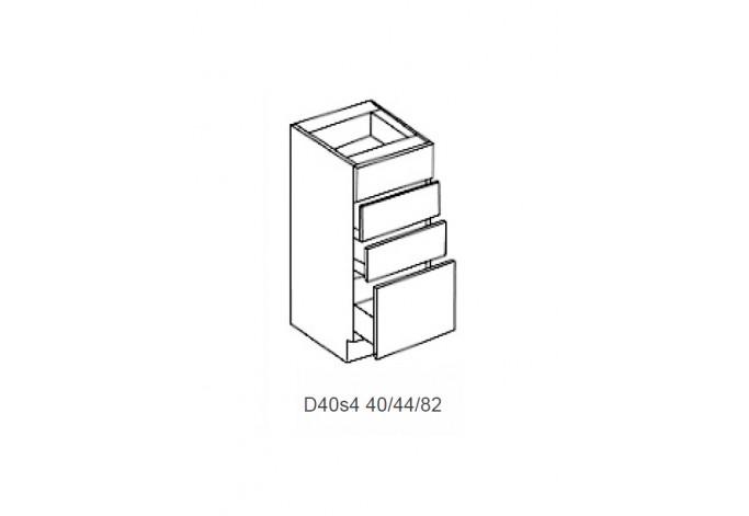 Spintelė VIOLET D 40s4 (4 stalčiai)
