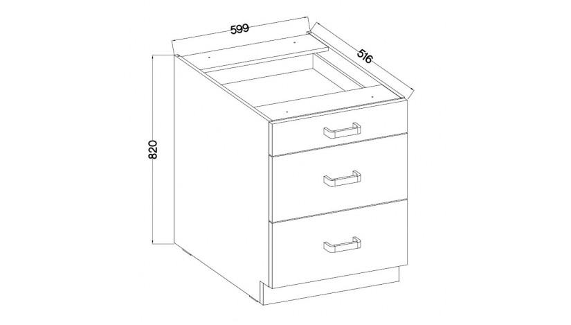 Eko white 60 D 3S BB spintele su 3 stalčiais