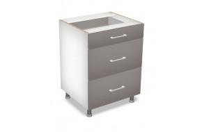 60 cm pastatoma spintelė 3S, Premium Line 3 stalčiai D 60 S/3