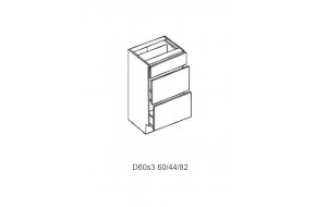 Spintelė COSTA MDF D 60.3s (3 stalčiai)