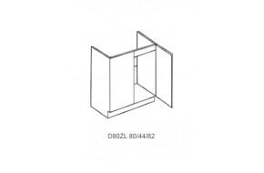 Spintelė ROMINA MDF D 80zl kriauklei